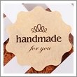 "Seal Sticker ลาย ""handmade for you"""
